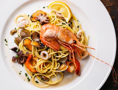 spaghetti with prawn